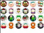 24 x South Park Edible Rice Wafer Paper Cup Cake Bun Toppers